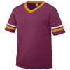 Youth-Sleeve-Stripe-Jersey-361-Maroon-Gold-White