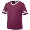 Youth-Sleeve-Stripe-Jersey-361-Maroon-White