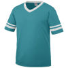 Youth-Sleeve-Stripe-Jersey-361-Teal-White