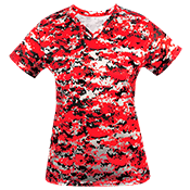 Digital Camouflage Ladies V-Neck Badger Jersey 4186