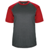 Adult-Sport-Heather-Tee-434100-Carbon-Heather-Red