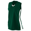 GIRLS_WICKING_MESH_POWERHOUSE_JERSEY_528_Dark_Green_White