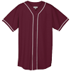 WICKING-MESH-BUTTON-JERSEY-BRAID-TRIM-593-Maroon-White