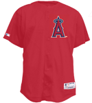 Angels Official MLB Full Button Jersey - MA6541 Angels-6541-
