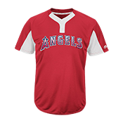 Youth Angels Two-Button Jersey - Angels-MAIY83 Angels-MAIY83