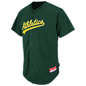 Athletics Official MLB Full Button Jersey - MA6540 Athletics-6540