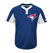 Custom  Blue Jays Two-Button Jersey -  Blue Jays-MAI383 Blue-Jays-MAI383