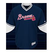 Youth Braves V-Neck Cool Base Jersey - MGY08-BRAVES MGY08-BRAVES