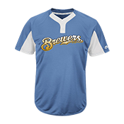 Custom Brewers Two-Button Jersey - Brewers-MAI383 Brewers-MAI383