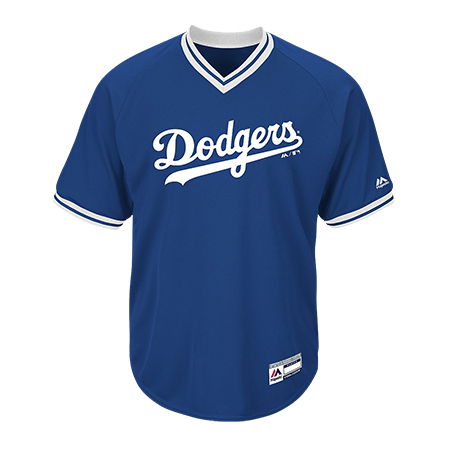 custom printed youth dodgers  neck cool base jersey customplanetcom