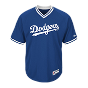 Youth Dodgers V-Neck Cool Base Jersey  - MGY08-DODGERS MGY08-DODGERS