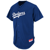 Dodgers Full Button Baseball Jersey - Adult Dodgers_Full_Button_Jersey_M6840