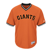 Adult Giants V-Neck Cool Base Jersey - MG008-GIANTS MG008-GIANTS