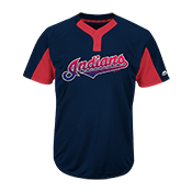 Youth Indians Two-Button Jersey - Indians-MAIY83 Indians-MAIY83