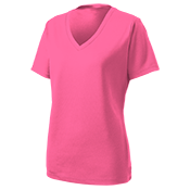 Ladies Customized Racermesh V-Neck Tee - LST340 LST340