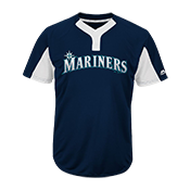 Custom Mariners Two-Button Jersey - Mariners-MAI383 Mariners-MAI383