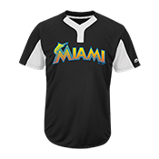 Custom Marlins Two-Button Jersey - Marlins-MAI383 Marlins-MAI383