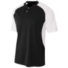 Youth-2Button-Henley-NB3315-Black-White