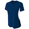 Womens-Color-Block-Performance-V-Neck-NW3223-Navy-White