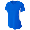 Womens-Color-Block-Performance-V-Neck-NW3223-Royal-White