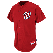 Nationals Official MLB Full Button Jersey - MA6540 Nationals-6540