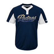 Custom Padres Two-Button Jersey - Padres-MAI383 Padres-MAI383