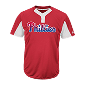Custom Phillies Two-Button Jersey - Phillies-MAI383 Phillies-MAI383