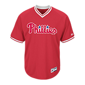 Adult Phillies V-Neck Cool Base Jersey - MG008-PHILLIES MG008-PHILLIES