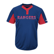 Custom Rangers Two-Button Jersey - Rangers-MAI383 Rangers-MAI383