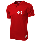 Reds MLB 2 button Youth Jersey  - MA0181 Reds-MA0181