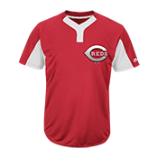 Youth Reds Two-Button Jersey - Reds-MAIY83 Reds-MAIY83