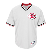 Adult Reds V-Neck Cool Base Jersey - MG008-REDS MG008-REDS