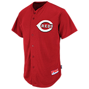 Reds Official MLB Full Button Jersey - MA6540 Reds-6540