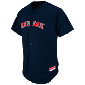 Red Sox Full Button Baseball Jersey - Adult Red Sox_Full_Button_Jersey_M6840