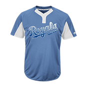 Youth Royals Two-Button Jersey - Royals-MAIY83 Royals-MAIY83
