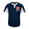 Majestic-Mlb-Premier-Two-Button-Colorblocked-Jersey-MAI383-Tigers