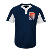 Custom Tigers Two-Button Jersey - Tigers-MAI383 Tigers-MAI383