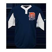 Custom Tigers Two-Button Jersey - Tigers-MAI383 Tigers-MAI383