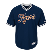 Adult Tigers V-Neck Cool Base Jersey - MG008-TIGERS MG008-TIGERS