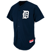 Tigers Full Button Baseball Jersey - Adult Tigers_Full_Button_Jersey_M6840