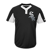 Custom White Sox Two-Button Jersey - White Sox-MAI383 White-Sox-MAI383