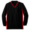 Youth_Tipped_V_Neck_Raglan_Wind_Shirt_YST62_Black_True_Red