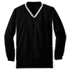 Youth_Tipped_V_Neck_Raglan_Wind_Shirt_YST62_Black_White