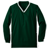 Youth_Tipped_V_Neck_Raglan_Wind_Shirt_YST62_Forest_Green_White