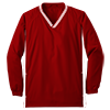 Youth_Tipped_V_Neck_Raglan_Wind_Shirt_YST62_Maroon_White