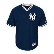 Adult Yankees V-Neck Cool Base Jersey - MG008-YANKEES MG008-YANKEES