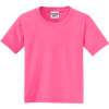 JERZEES-Youth-Dri-Power-Active-50-50-Cotton-Poly-T-Shirt-29B_Neon-Pink