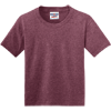 JERZEES-Youth-Dri-Power-Active-50-50-Cotton-Poly-T-Shirt-29B_Vintage-Heather-Maroon
