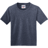 JERZEES-Youth-Dri-Power-Active-50-50-Cotton-Poly-T-Shirt-29B_Vintage-Heather-Navy