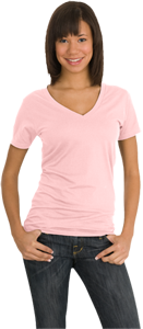 District Threads® - Junior Ladies Perfect Weight V-Neck Tee DT2170
